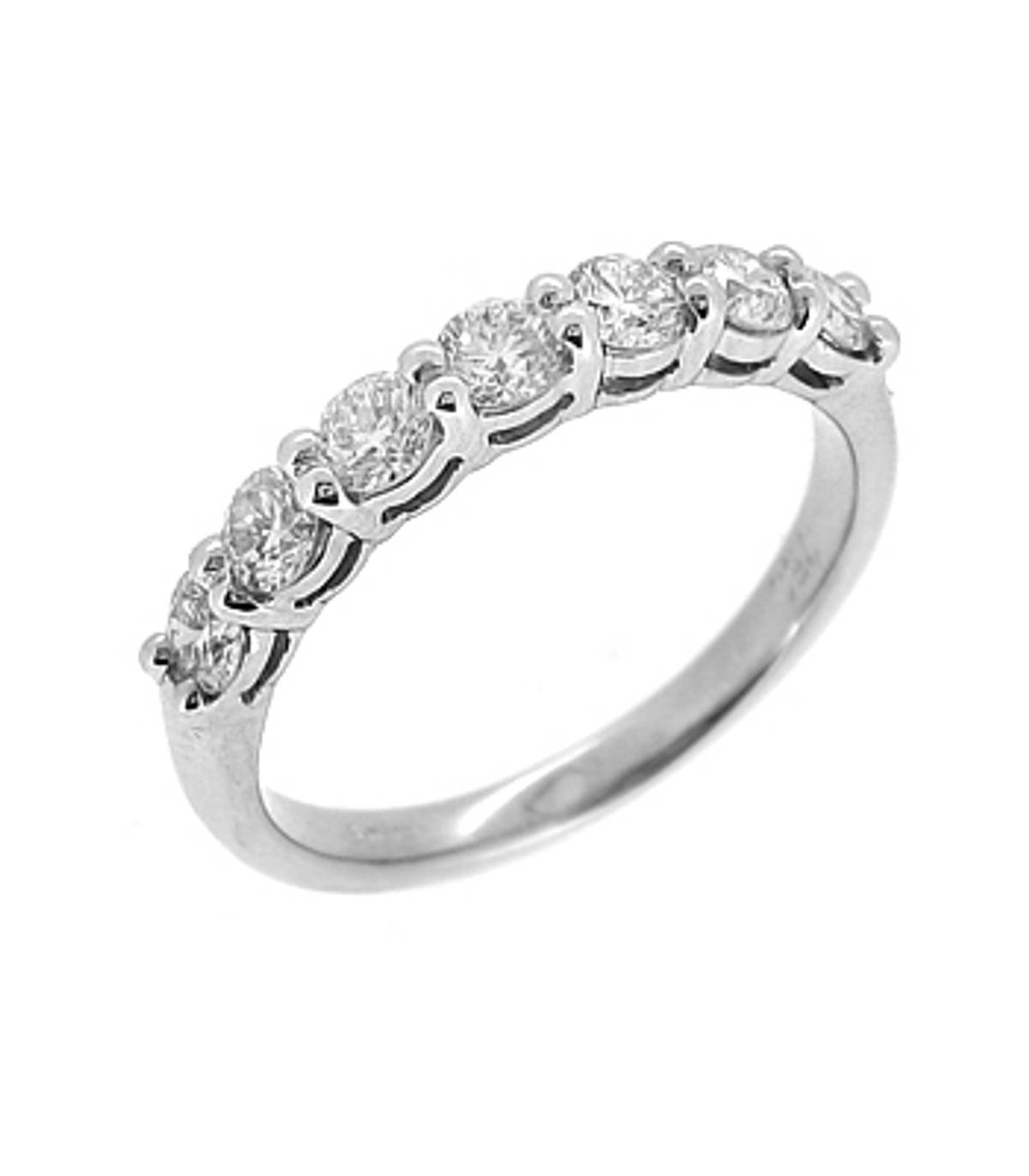 18k white gold brilliant cut 7st diamond claw set eternity ring Carat: total diamond weight 0.85cts Metal: 18k white gold