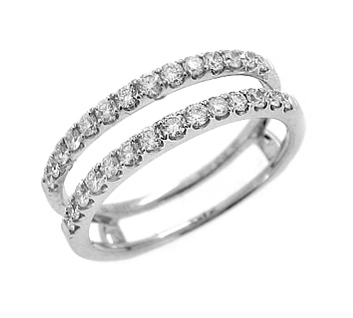 18k white gold brilliant cut diamond keeper ring Total diamond weight 0.46cts 18k white gold