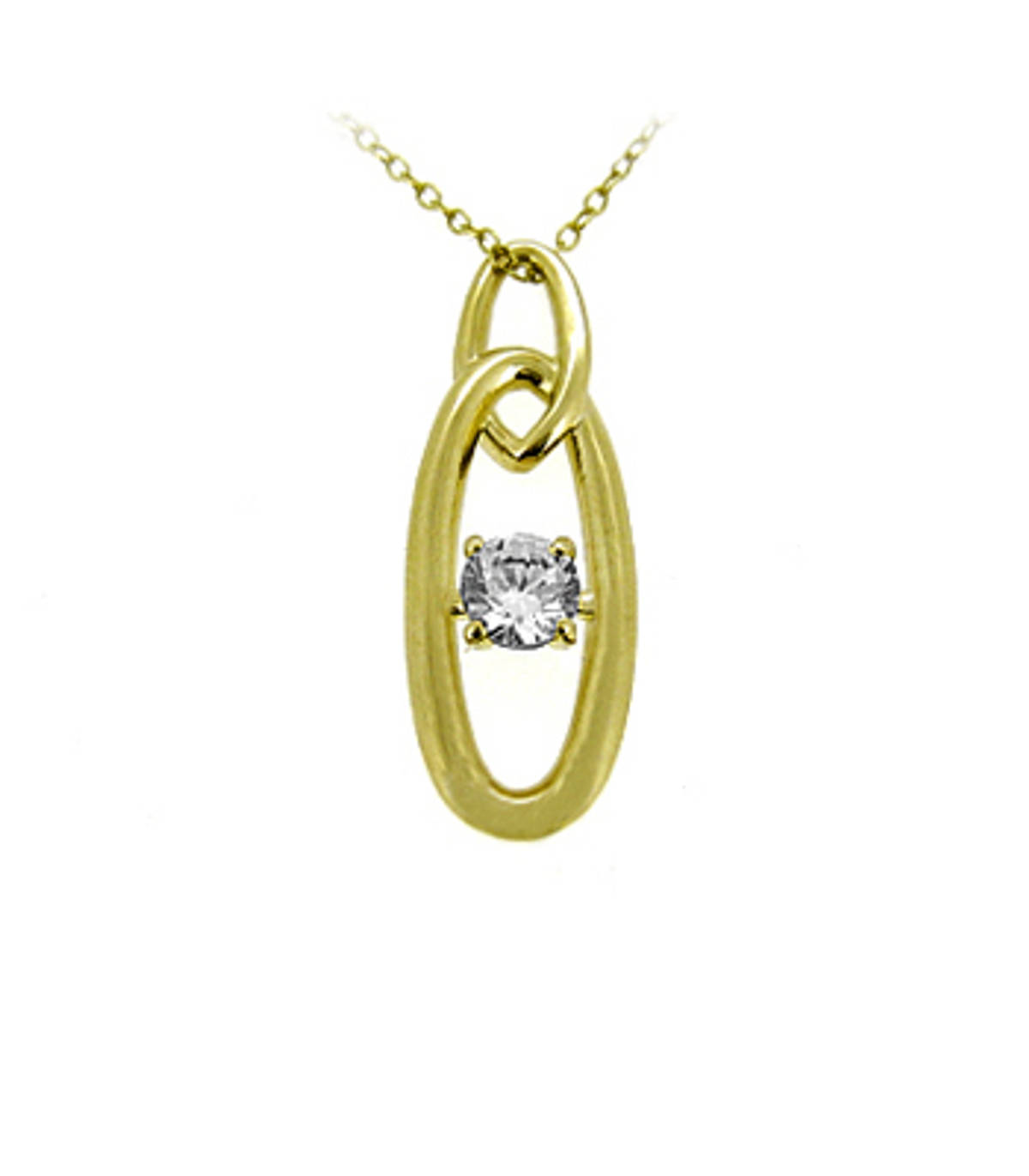 """9k yellow gold CZ pendant on 9k yellow gold 18"""" chain Metal: 9k yellow gold 9k yellow gold 18"""" chain Length  2.9cm Width  1cm Made in  Ireland"""