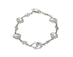 Silver Classic Children Of Lir Bracelet