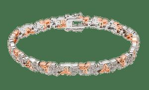 Silver Cz Shamrock Trinity Huggie Bracelet