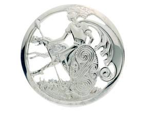 Silver Cuchulainn Brooch