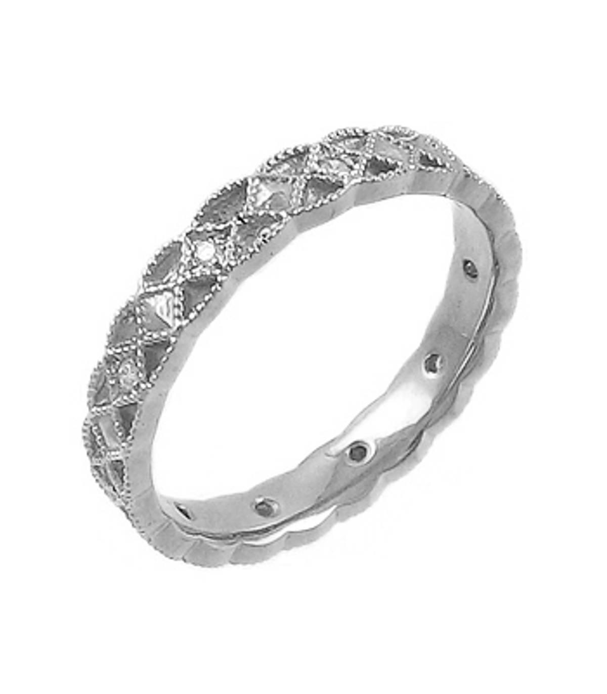 14k gold brilliant cut diamond Celtic wedding ring Total diamonds weight  0.08cts  H/I VS1