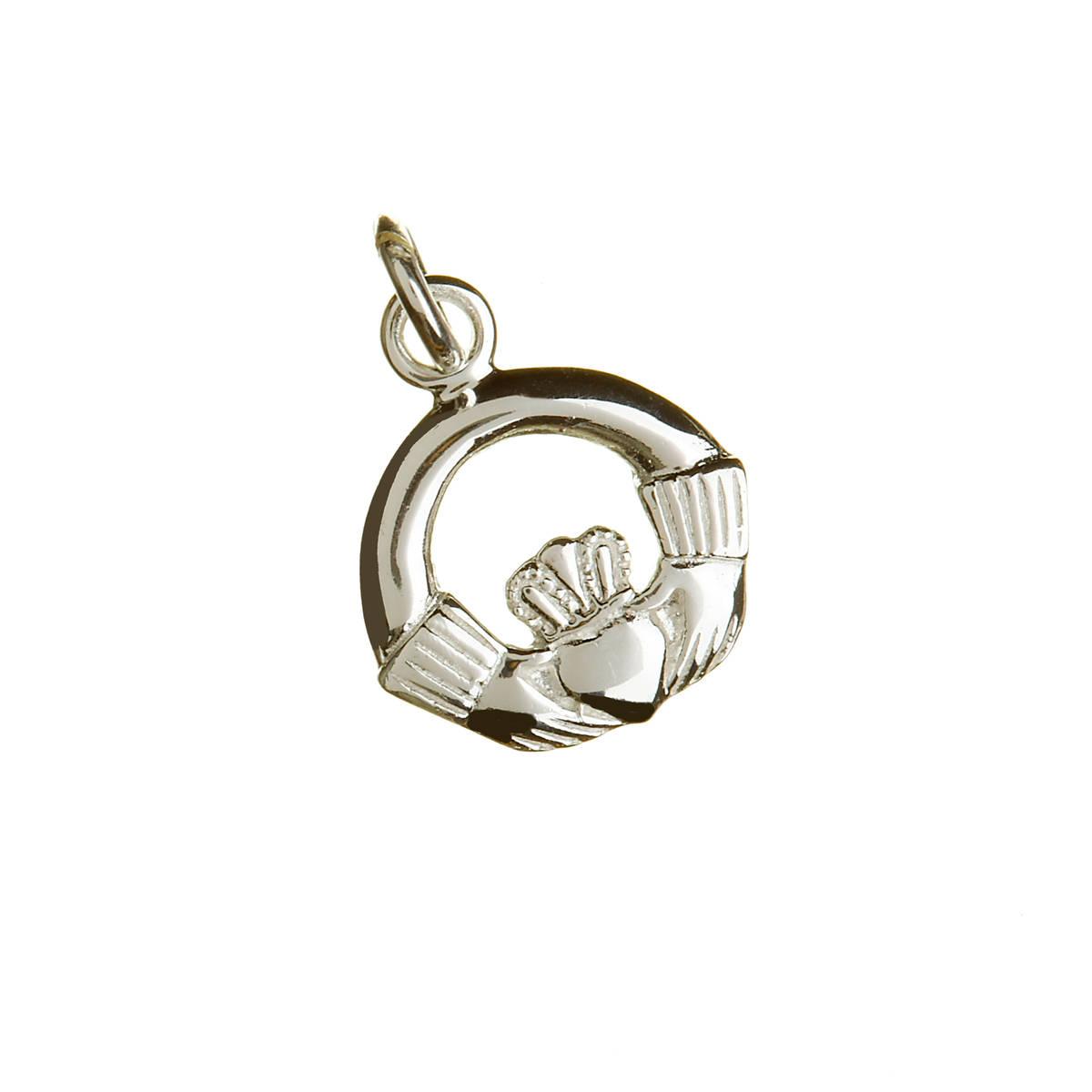 Silver Small Claddagh Charm