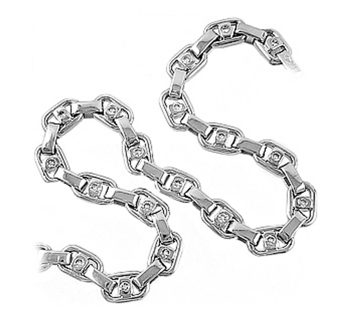 18 carat white gold bracelet with 0.40cts diamonds
