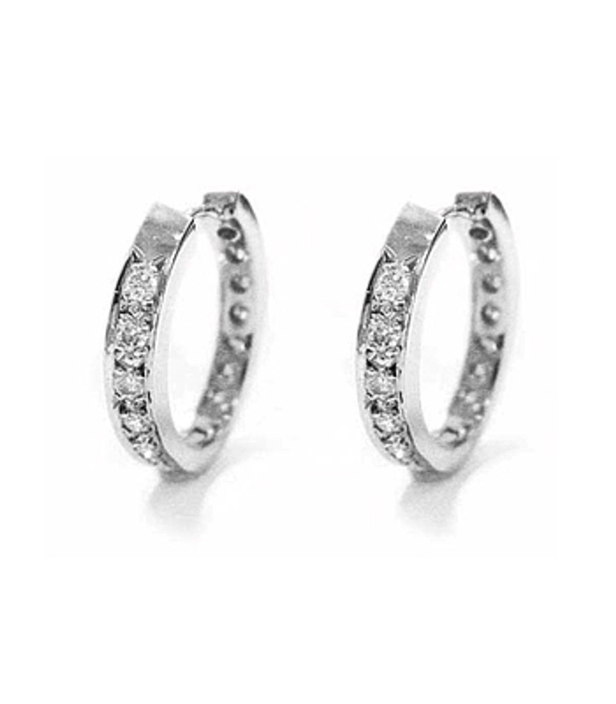 18k white gold brilliant cut diamond hoop earringsDETAILSCarat: total diamond weight 1.17ctsCut: Brilliant cutMetal: 18k white gold Made in Ireland