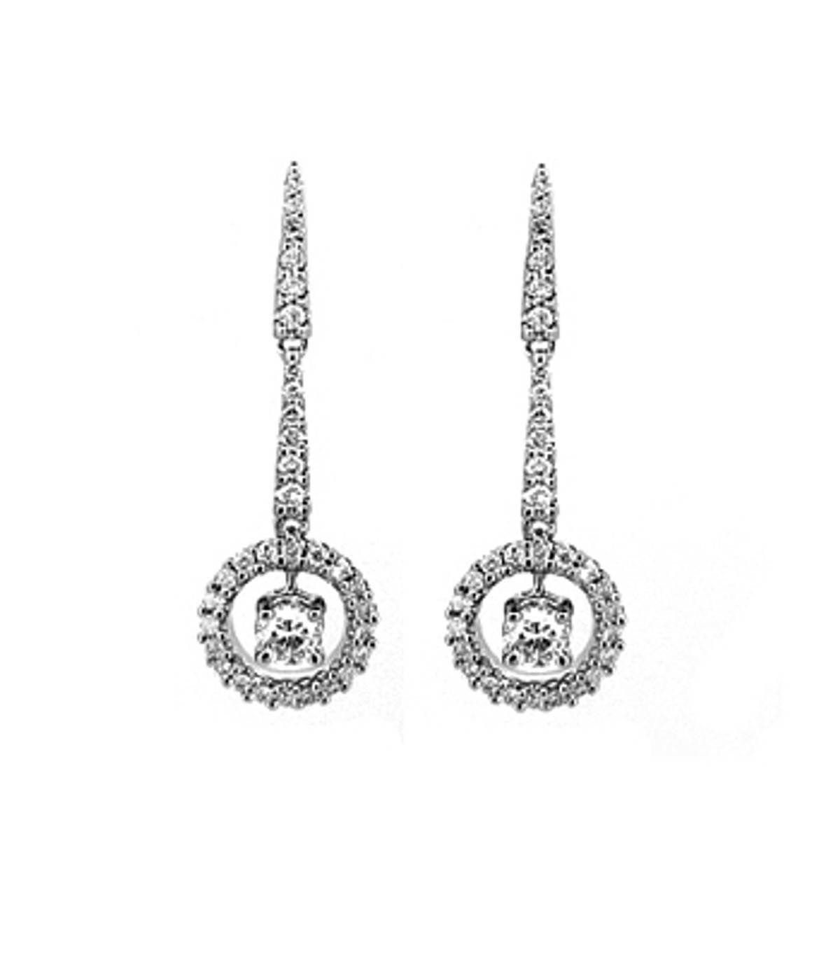 18k white gold brilliant cut diamond cluster drop earringsDETAILSCarat: diamond total weight 0.68cts FIT & SIZEwidth  0.9cmdrop  2.8cm