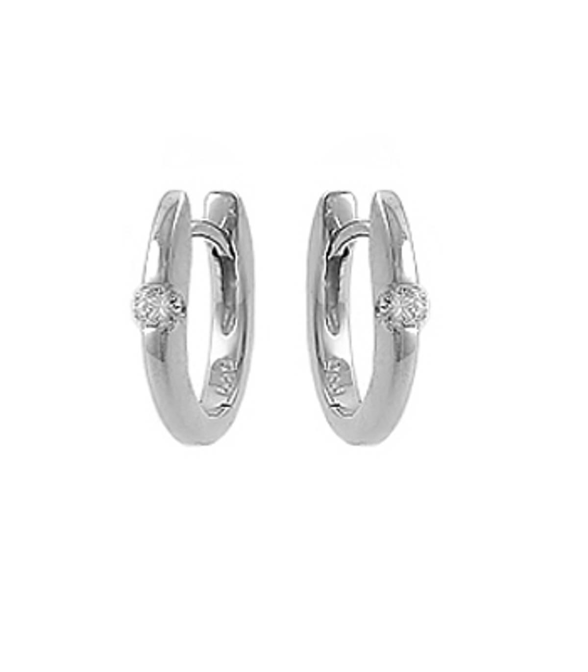 18k white gold s/st brilliant cut diamond hoop earringsDETAILSCarat: total diamond weight 0.20ctsColour: G-HClarity: VS1Cut: Brilliant cutMetal: 18k white gold Made in Ireland