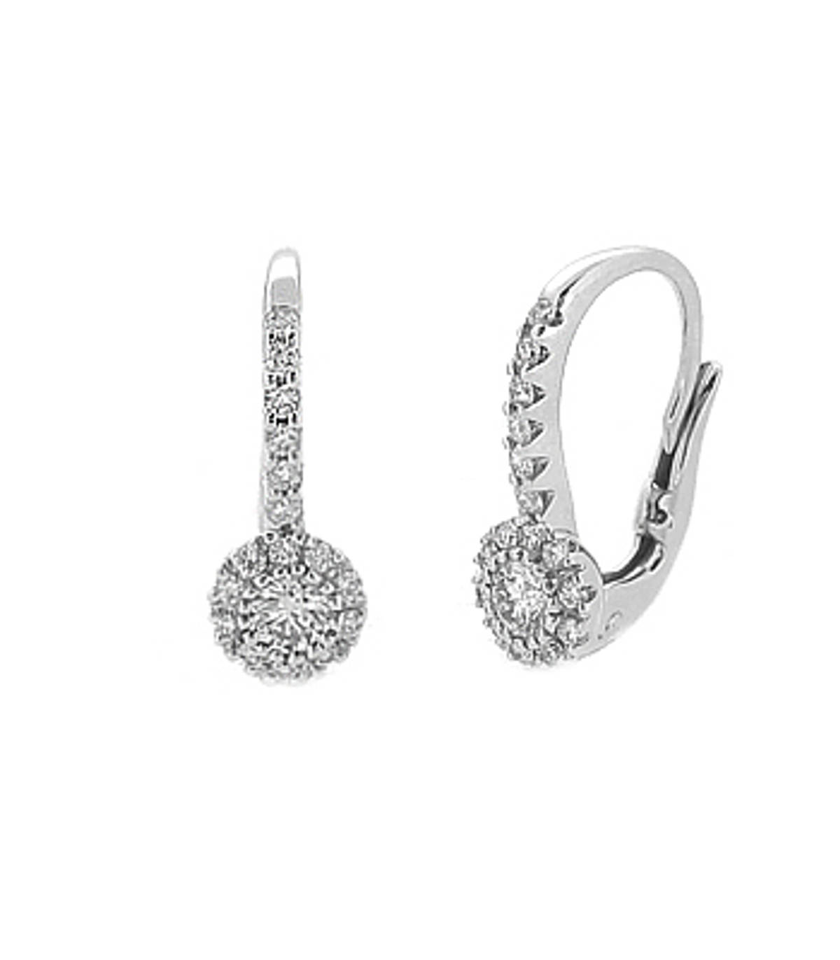 18k white gold brilliant cut diamond hoop earringsDETAILSCarat: total diamond weight 0.49cts Made in Ireland