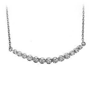 Diamond Crescent Necklace