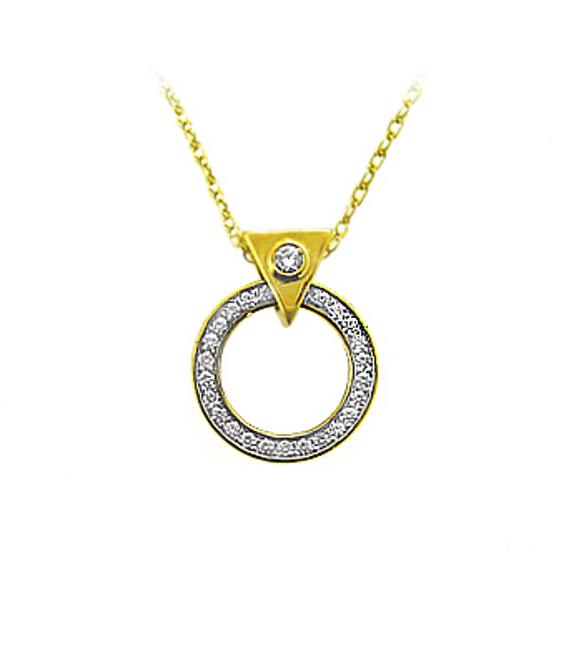 "9k yellow gold brilliant cut diamond horseshoe pendant on 9k yellow gold 18"" chainDETAILSCarat: total diamond weight 0.30cts  Pendant length 1.8cmPendant width 1.5cm"