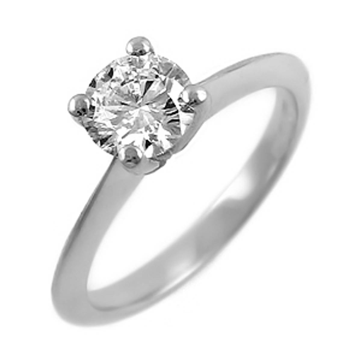 Irish made 0.41ct brilliant cut diamond ring set in 18ct white gold.