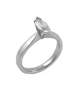 0.55ct marquise diamond set in platinum