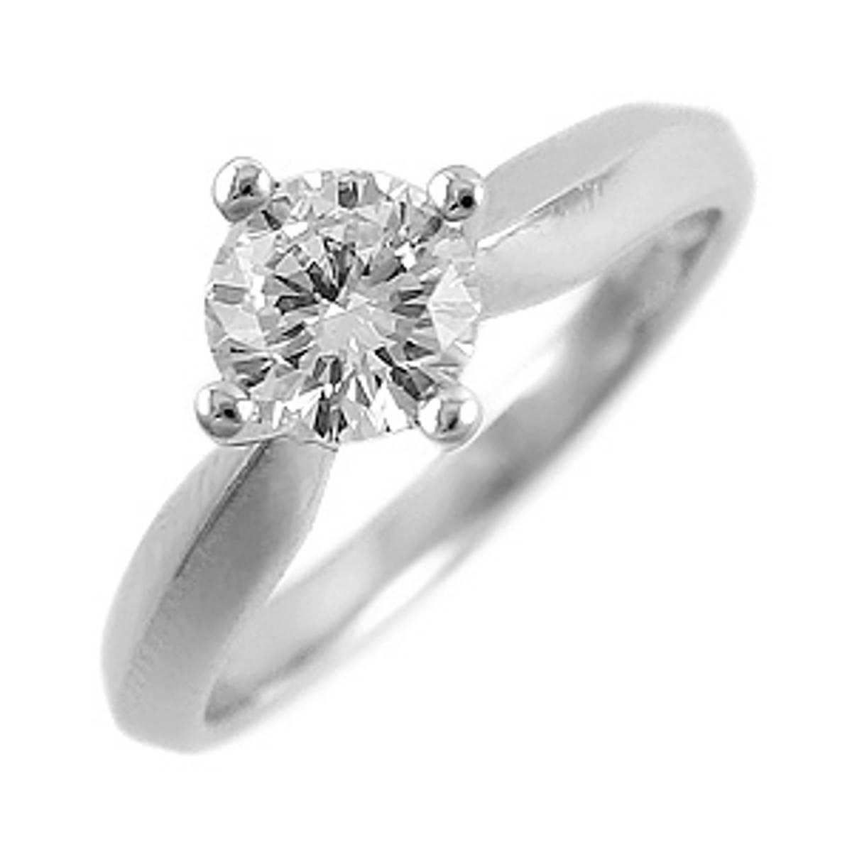 Irish made 0.50ct brilliant cut solitaire diamond engagement ring set in 18ct white gold.Colour: H/IClarity VSI