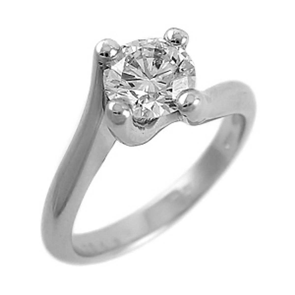 Irish made0.34ct brilliant cut diamond engagement ring set in 18ct white gold