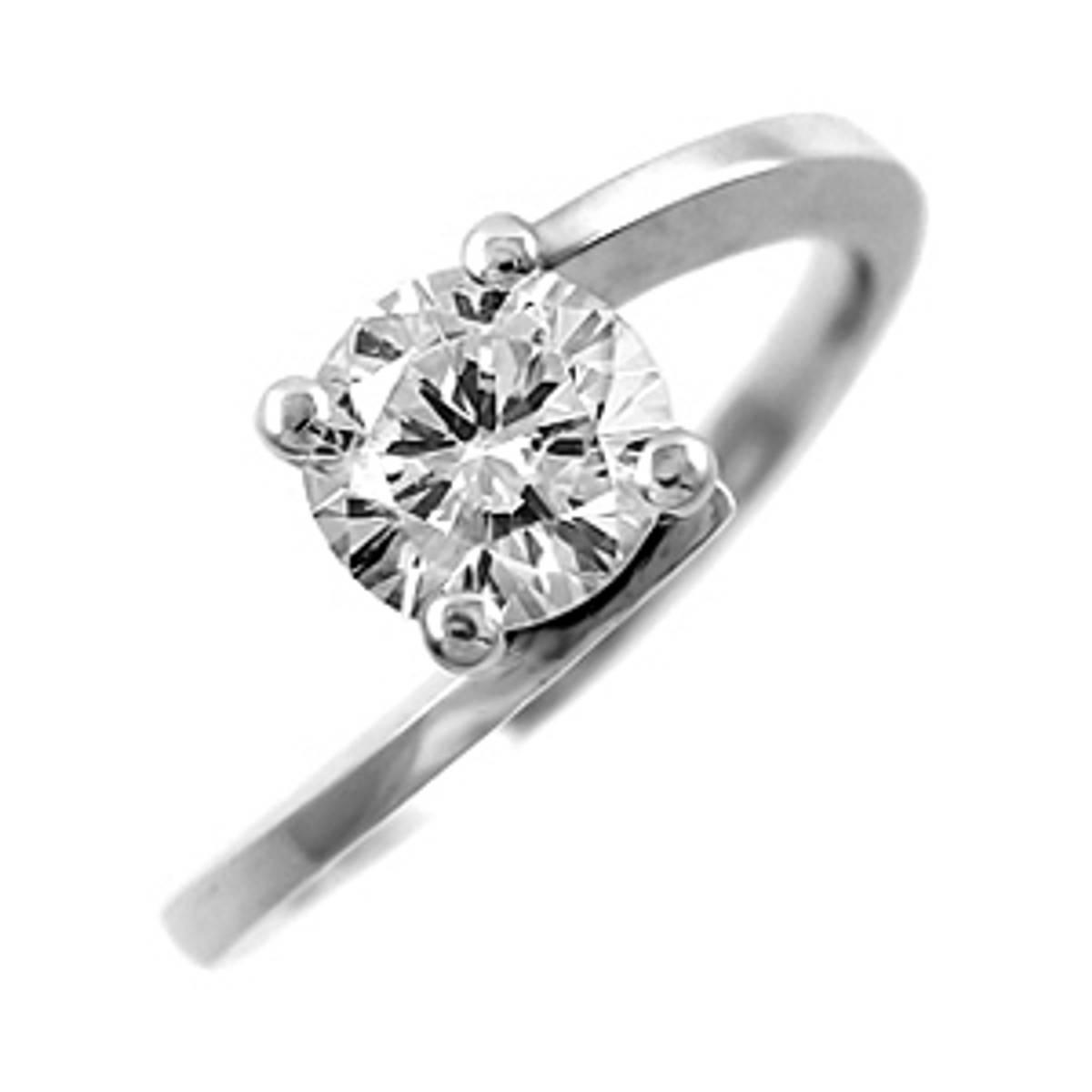 Irish made0.71ct brilliant cut diamondsolitaire ring setin 18ct white gold.