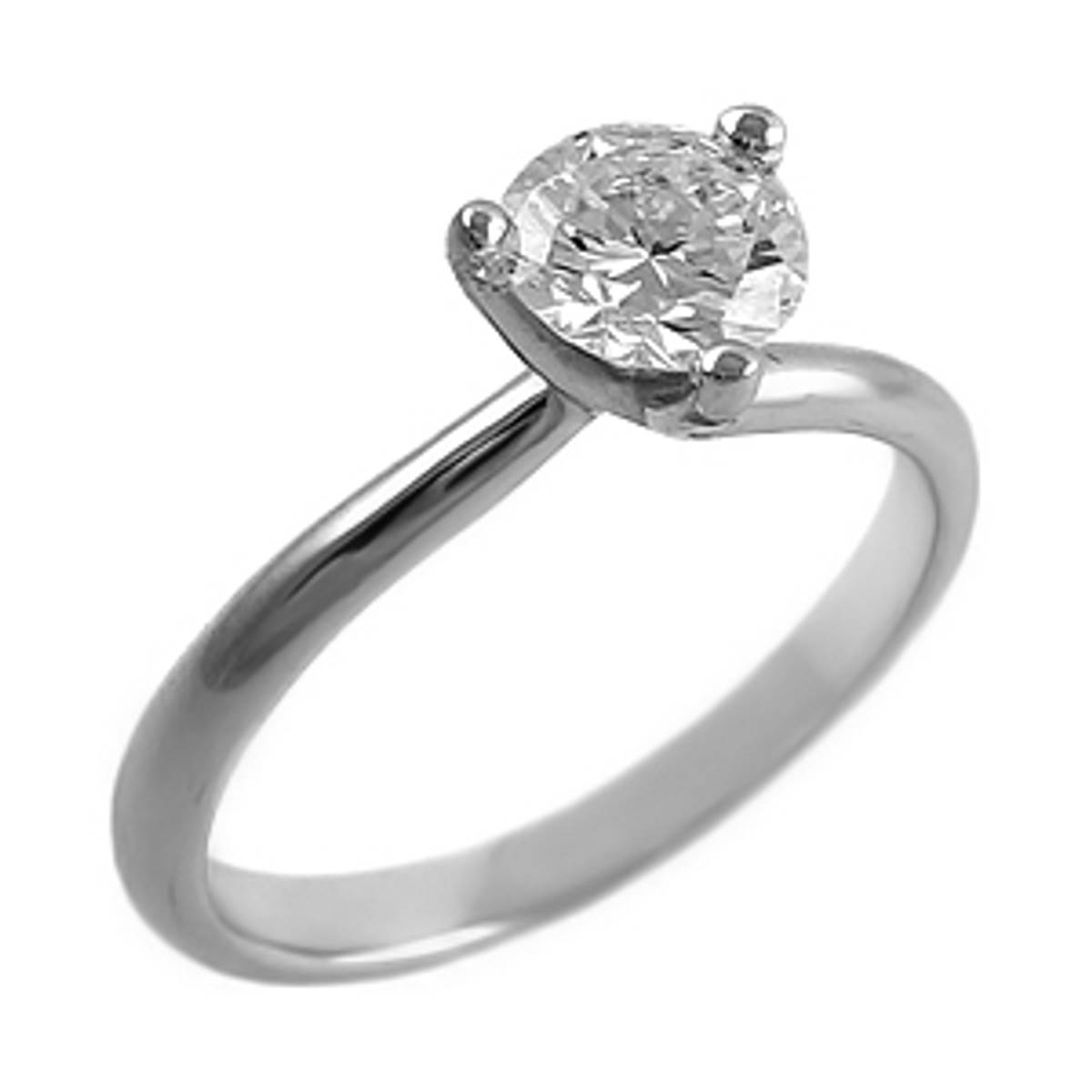 Irish made 0.65ct diamond engagement ring in 18ct white goldColour:H/IClarity:VSI
