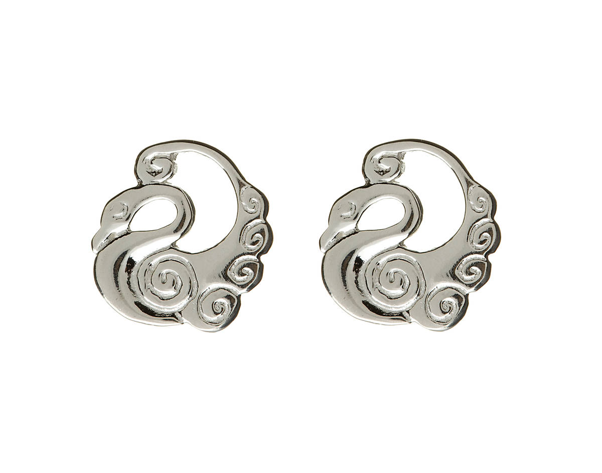 stylish jaw-droppingly beautiful stud earrings which will turn heads  Silver Classic Children Of Lir Round Earrings Boxed