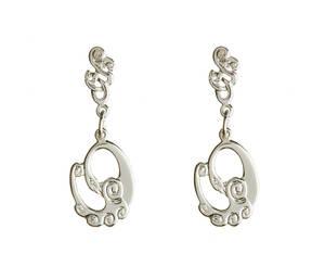 Silver Children Of Lir Earrings Boxed
