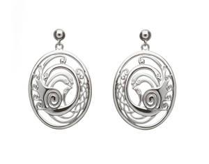 Silver Children Of Lir Swan Earrings
