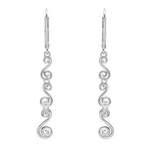 Silver Newgrange Drop Earrings