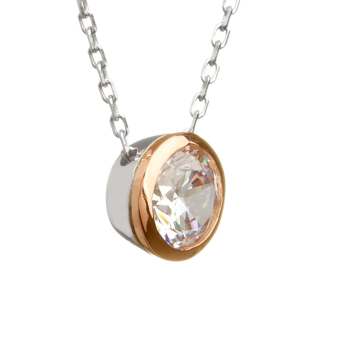 House of Lor silver/rose cz pendant made from rare Irish goldnick/dwpck