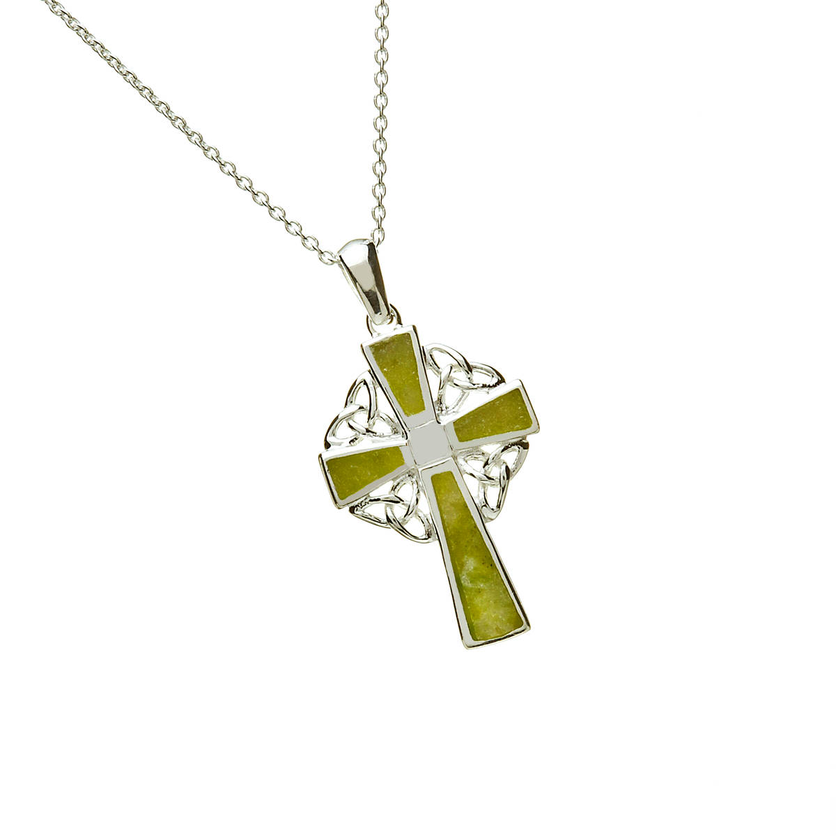 Silver Cm Celtic Cross Chained