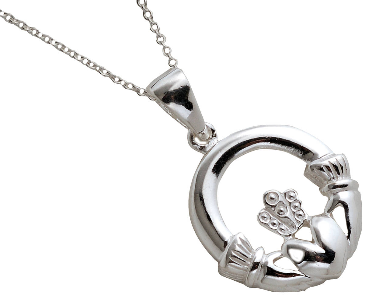 a larger version of the traditional claddagh pendant ,perfect as a gift to somebody special,