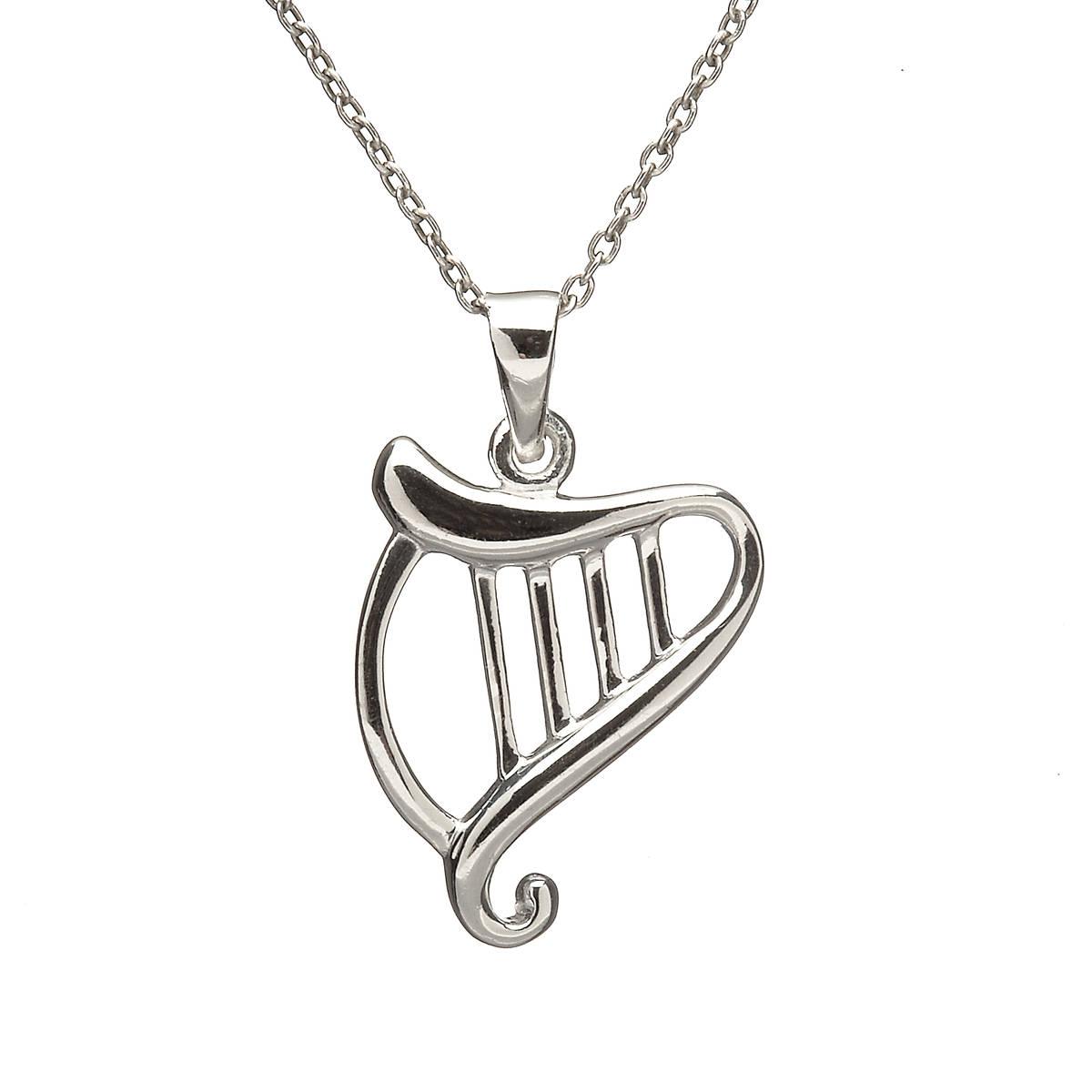 Silver Harp Pendant
