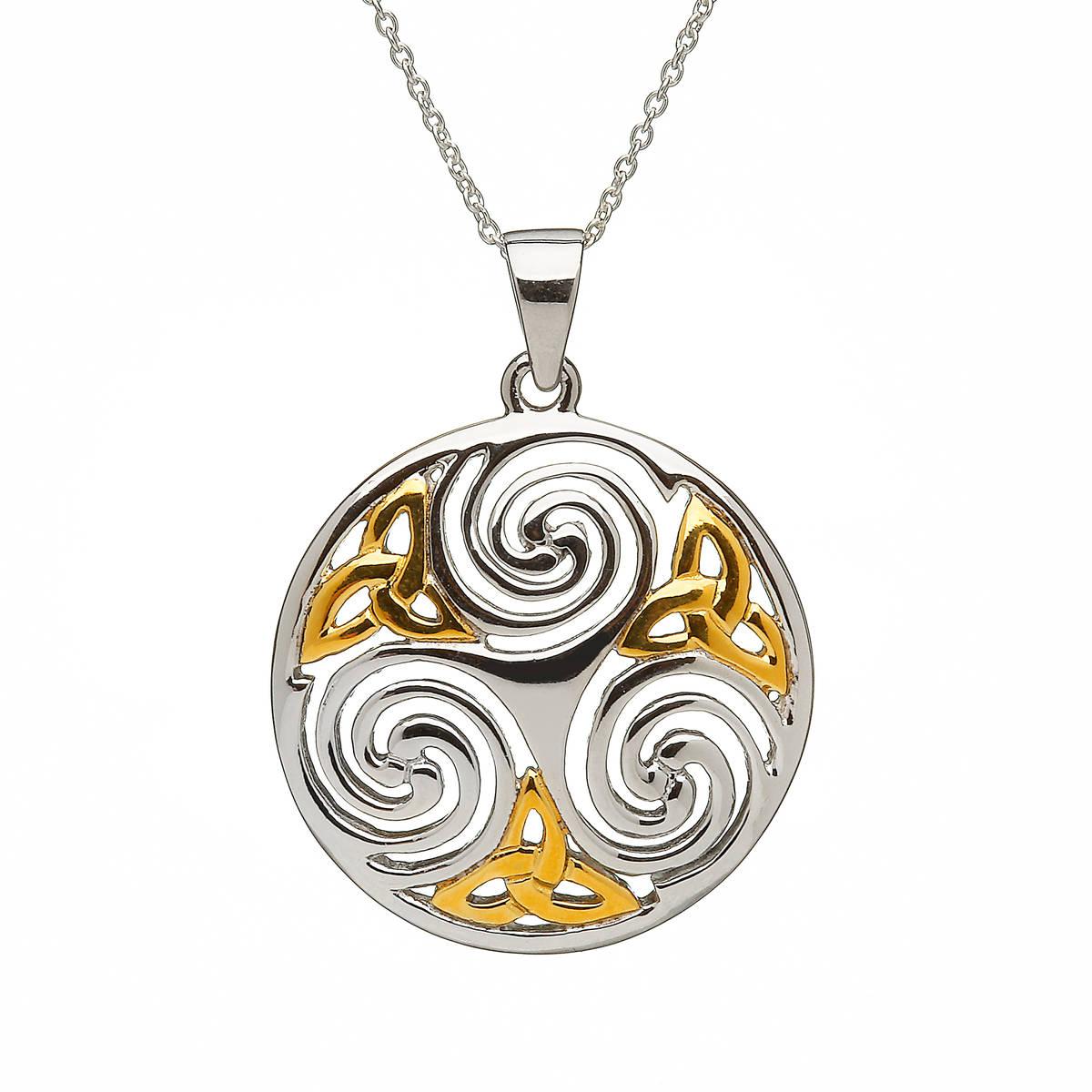 Silver Celtic Round Gp Trinity Knots Pendant