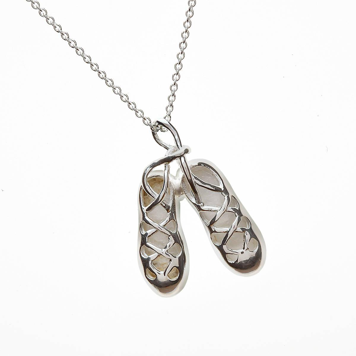 Silver Irish Dancing Shoes Pendant