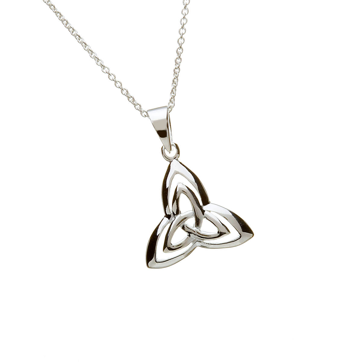 Silver Trinity Knot With Inset Trinity Knot Pendant