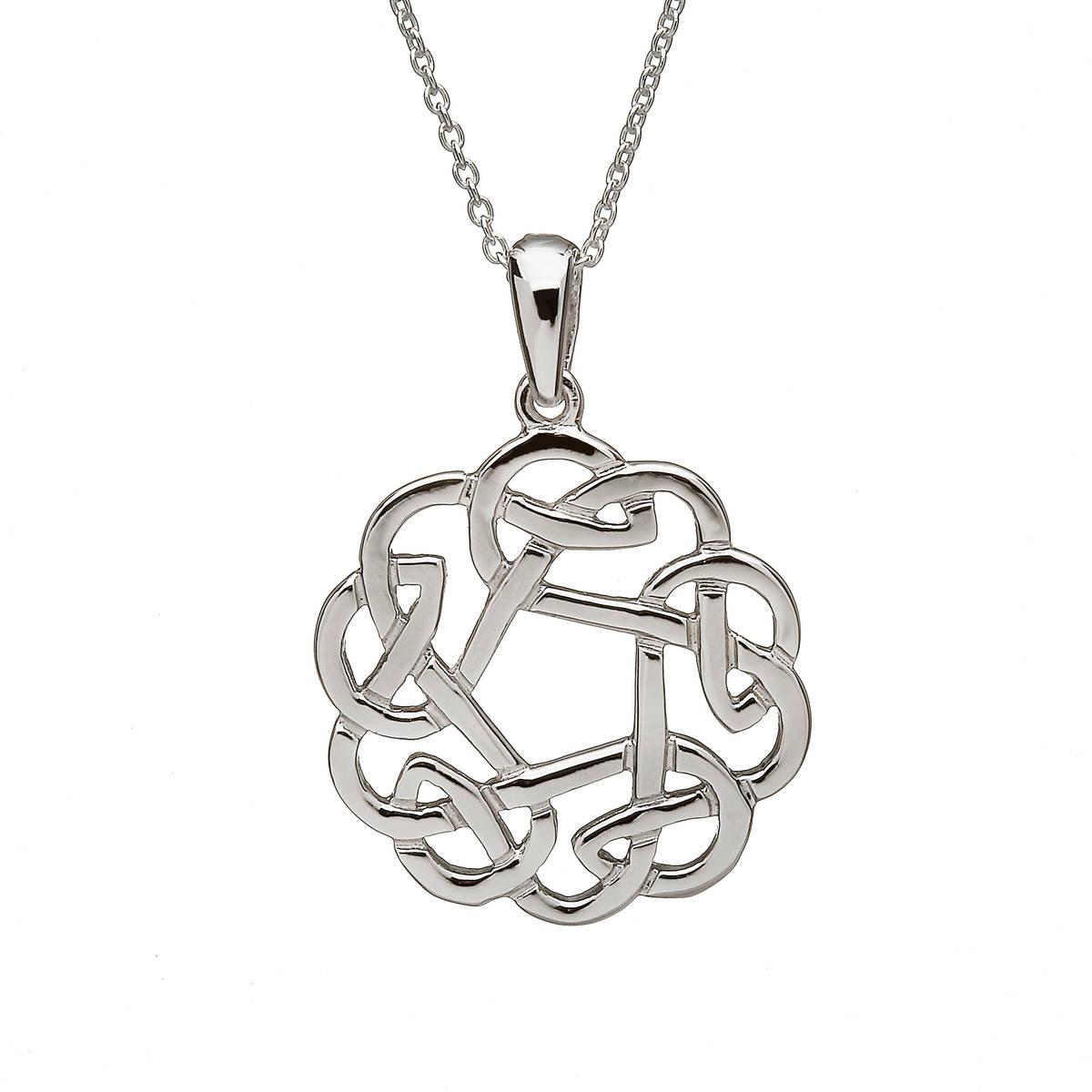 Silver Round Celtic Pendant