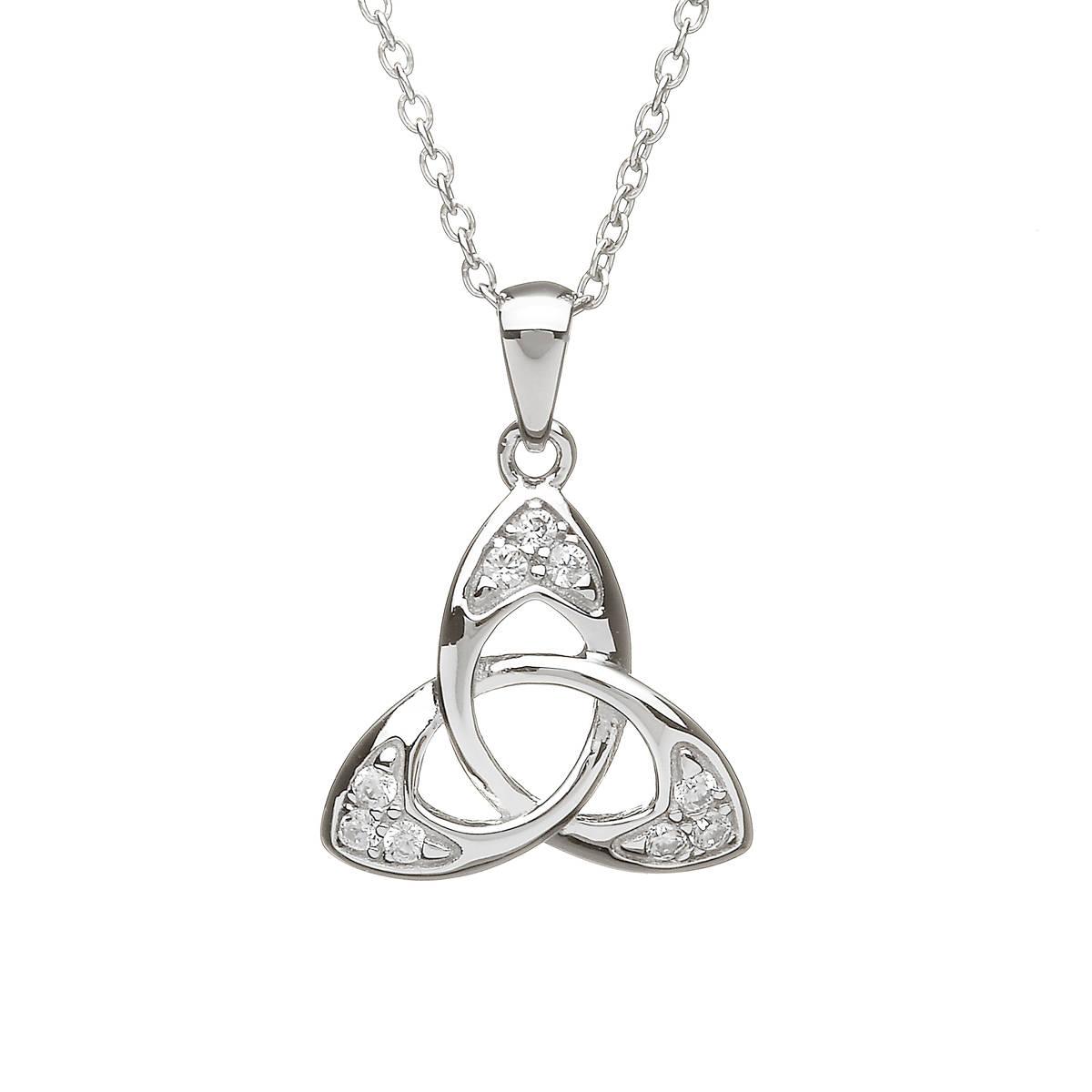 Silver Cubic Zirconia Trinity Pendant