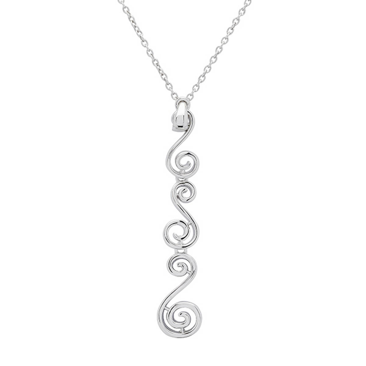 Sterling Silver and Rose Gold two-tone Linked Newgrange Pendant   Size: 40mm