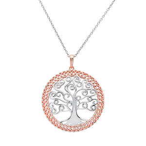 Silver Round Pendant with Celtic Tree Of Life