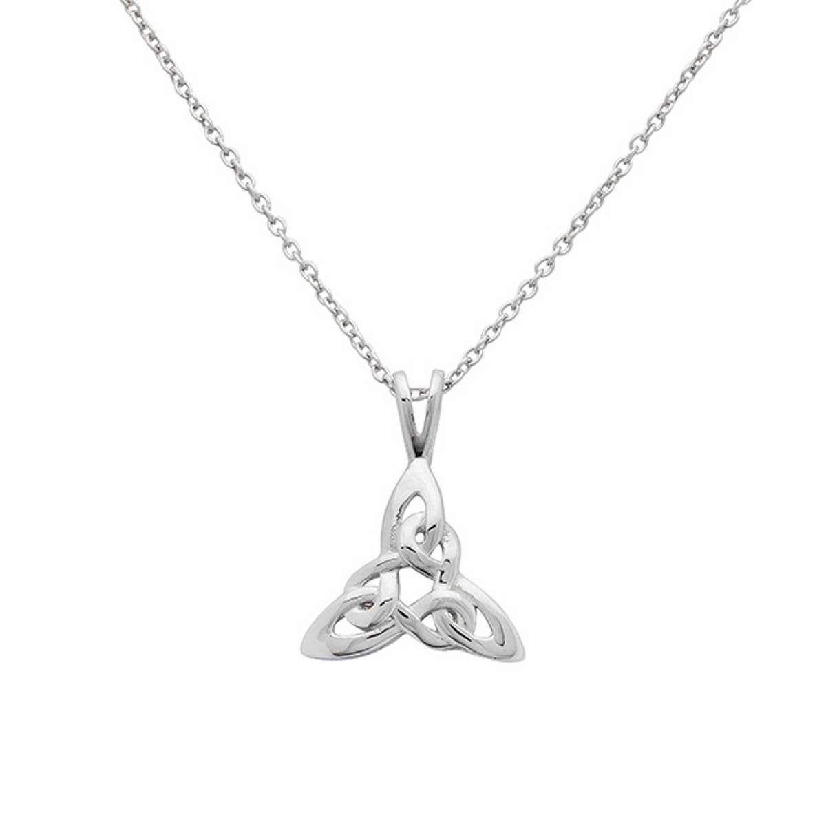 Sterling Silver Celtic Trinity Knot Pendant.  Size: 15mm Chain Length: 18 inches