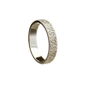 Silver Trinity Knot Wedding Band