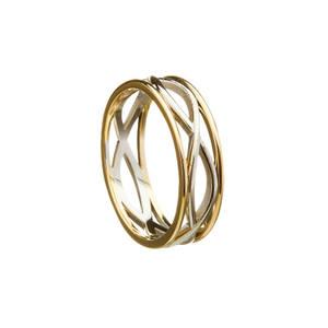 10 carat white gold man's ring