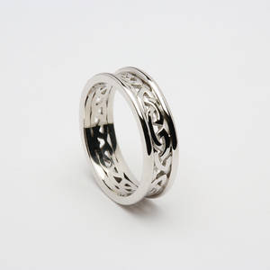 10ct White Gold Ladies Celtic Knot Wedding Band