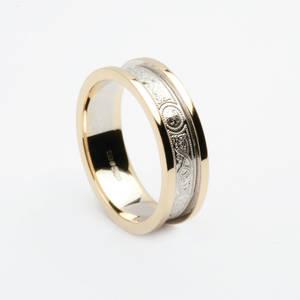 10ct white gold Arda wedding ring