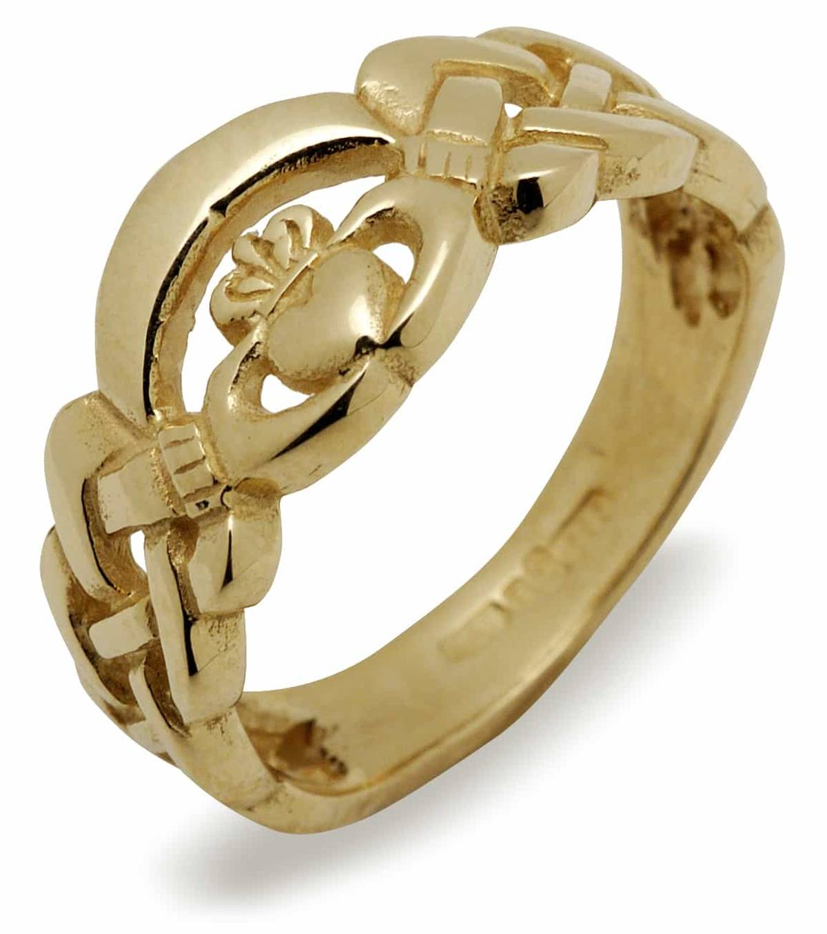 14 ct yellow gold Nua Claddagh ring