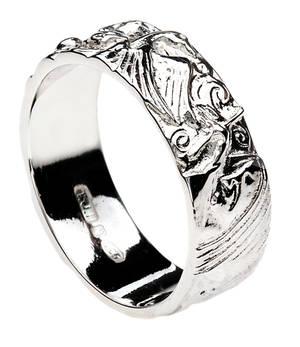Silver Children Of Lir Ring