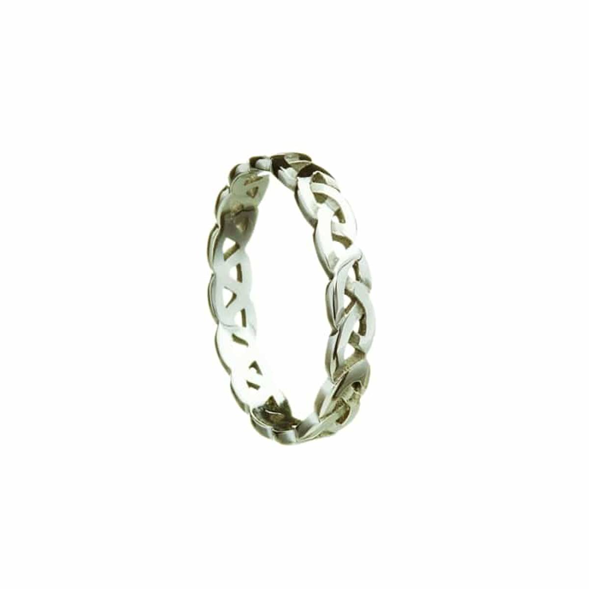 10 ct gents white goldCeltic knot narrow band larger sizes