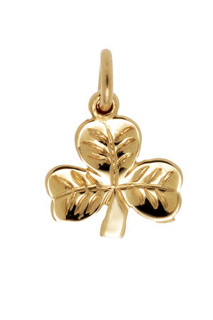 10ct Small Shamrock Charm on chain