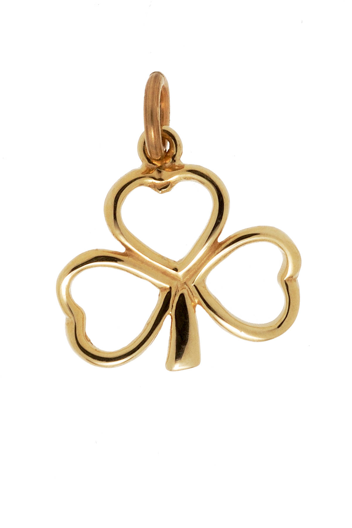 10 carat yellow gold open shamrock charm(no chain)12mmX14mm