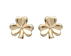 10 carat Shamrock Earrings Boxed