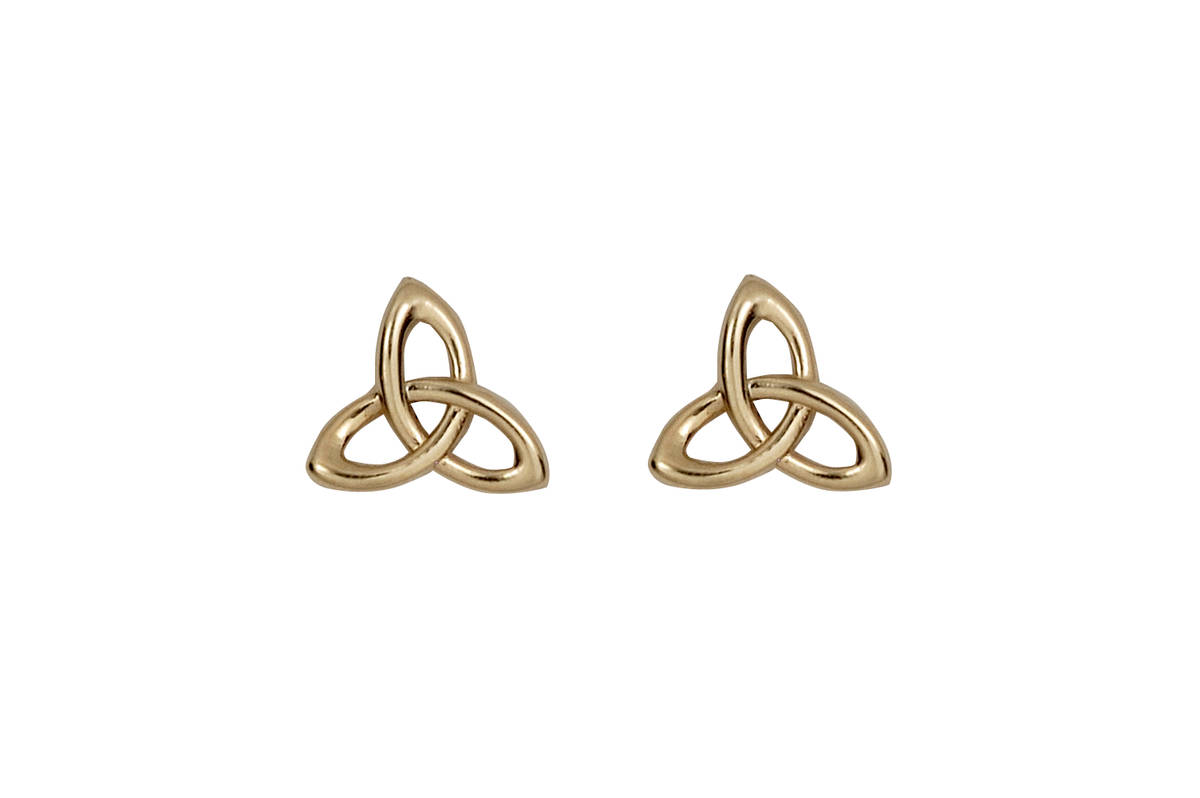 10ct Y/gold Trinity Knot Earring 10mx9m   classic 10 carat yellow gold celtic eternity knot stud earrings-indispensable!!!
