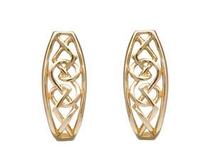 Yellow Gold Celtic Design Earrings