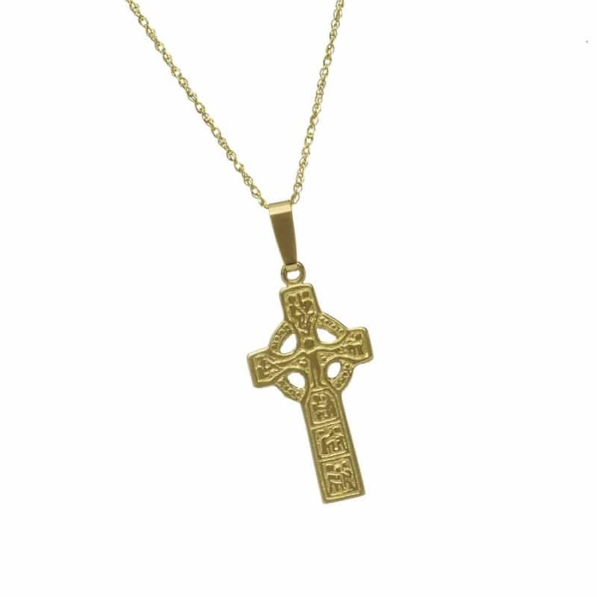 10 ct gold Duleek replica cross pendant